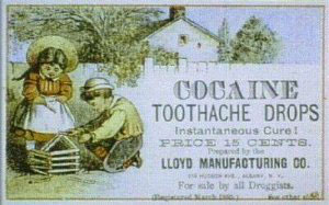 advertisement for products with cocaine